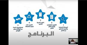 نيابة عن معالي رئيس الجامعة،، أ.د.النمي يدشن برنامج التطوير المهني