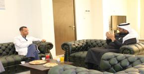 زيارة المشرف العام لإدارة الطوارئ والكوارث بوزارة الصحة لمقر كلية الأمير سلطان الطبية الطارئة