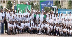 طلاب كلية علوم الرياضة والنشاط البدني يبادرون للعمل التطوعي في مجال الفعاليات والمناسبات الرياضية