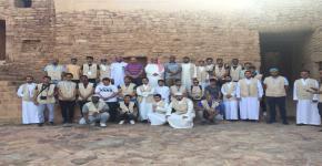طلاب قسم إدارة موارد التراث والإرشاد السياحي يباشرون تدريبهم الميداني في العلا