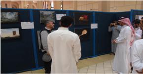كلية العلوم تحتضن معرض الفن التشكيلي الحر للطلاب