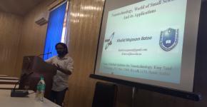 د. خالد باتو بمعهد النانو يعرض تقنية وعلوم النانو بمعاهد الهند البحثية