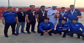 ضمن بطولة الاتحاد الرياضي للجامعات السعودية منتخب الجامعة لكرة الطائرة الشاطئية يحقق المركز الثالث