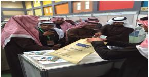 طلاب كلية المجتمع يشاركون في ملتقى اختيار التخصص الجامعي الخامس