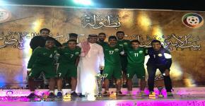 كلية علوم الرياضة والنشاط البدني تحقق كأس بطولة بيت الأمير فيصل بن فهد للشباب