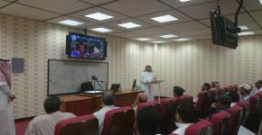 أ.د. زيد العثمان، يفتتح ندوة بعنوان الاجراءات الوقائية للحد من الكوارث