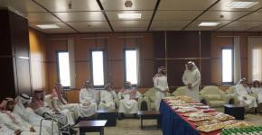 عمادة الدراسات العليا تقيم حفل معايده لمنسوبيها بمناسبة عيد الأضحى المبارك