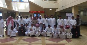 زيارة مدرسة ثمامة بن أثال الثانوية  لبرنامج التعليم العالي للطلاب الصم وضعاف السمع