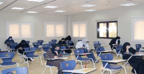 كلية التمريض تقيم اختبارات القبول لبرامج الدراسات العليا