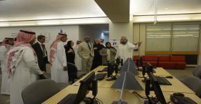 فريق المراجعة الخارجي للاعتماد الاكاديمي المؤسسي في مكتبة الملك سلمان المركزية