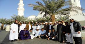 طلاب المنح في رحاب مكة المكرمة والمدينة المنورة