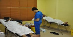 يوم مفتوح للتبرع بالدم  بكلية الدراسات التطبيقية وخدمة المجتمع