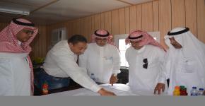 زيارة عميد كلية السياحة والآثار لموقع الكلية الجديد