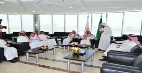 سعادة وكيل جامعة الإمام للدراسات العليا والبحث العلمي يزور وادي الرياض للتقنية