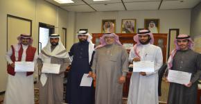 عميد الكلية يكرم المشاركين في تنظيم مبادرة سلسلة فنادق ماريوت