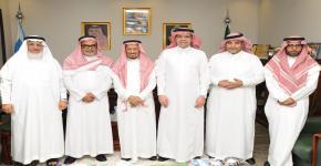 عميد كلية العلوم يستقبل رجل الأعمال الشيخ عبدالرحمن الجريسي.