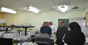 وفد جامعة المجمعة يزور كرسي الشيخ محمد العمودي لأبحاث التوحد