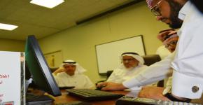 عميد البحث العلمي يدشن موقع مركز البحوث بالتربية
