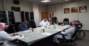وفد من جمعية الإعاقة الحركية للكبار (حركية) السعودية في زيارة لبرنامج الوصول الشامل للاطلاع على تجربة الجامعة والاستفادة منها في تأهيل مدينة الدرعية لذوي الاعاقة