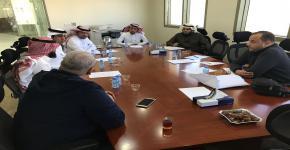 اجتماع تنسيقي بين إدارة إسكان الطلاب وإدارة صندوق الطلاب  والإدارة الفنية بجامعة الملك سعود