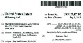 The Department of Civil Engineering has been granted a patent