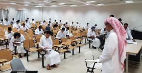 883 طالب لعدد سبع مقررات و29 شعبة أدوا امتحانات يوم السبت