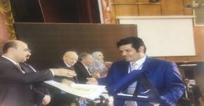 حصول أ.د. فهد العتيبي على جائزة التميز المقدمة من اتحاد الآثاريين العرب