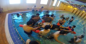 King Saud University EMS Students Training & Exercise for Water Rescue 2015