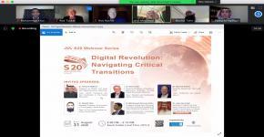 COEIA KSU Organizes S20 Webinar on Digital Revolution