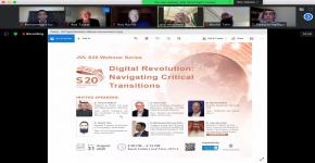 COEIA KSU Organizes S20 Webinar on Digital Revolution