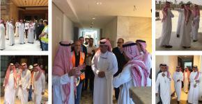 Dr. Al-Omar Inspecting the University Hilton Project