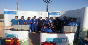 طلاب كلية الأمير سلطان بن عبدالعزيز للخدمات الطبية الطارئة يشاركون في إستضافة مدينة الرياض لبطولة كأس الخليج 22
