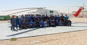 طلاب كلية الأمير سلطان للخدمات الطبية الطارئة في زيارة للإسعاف الطائر بهيئة الهلال الأحمر السعودي
