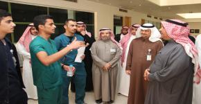 زيارة سعادة الدكتور وكيل الجامعة للمشاريع لعدد من الكليات