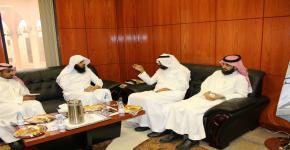 عميد الكلية يستقبل الدكتور خالد الحصين عميد كلية الحقوق بجامعة الملك فيصل