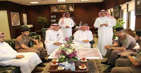 وكيل الجامعة للمشاريع يجتمع مع إدارة مرور منطقة الرياض