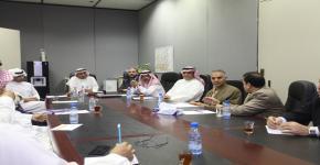 د.الزهراني يعقد اجتماع الاعتماد الاكاديمي الوطني مع وكيل عمادة التطوير والجودة