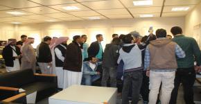 زيارة طلاب الحاسب -الجامعة الإسلامية بالمدينة المنورة لمركز أبحاث الروبوتات الذكية
