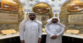 زيارة رئيس وحدة العلاقات العامة والاعلام الى مكتبة المسجد النبوي