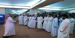 وفد طلاب كلية السياحة والآثار في مكتبة الملك سلمان المركزية