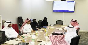 مركز التوجيه والإرشاد الطلابي يعقد إجتماعاً مشتركاً مع شركة لين للأعمال
