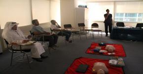 تدريب موظفي كلية الأمير سلطان الطارئة للاستعداد للإسعافات الأولية