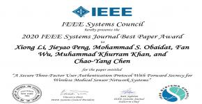 KSU Professor Wins Best Paper Award from a Prestigious IEEE Journal