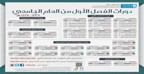 بدء التسجيل في دورات الفصل الأول للعام الجامعي 1437هـ -1438هـ