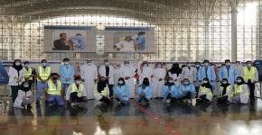 معالي وزير التعليم يزور مركز لقاحات كوفيد 19 بجامعة الملك سعود