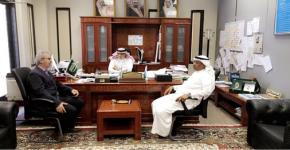 سعادة الاستاذ الدكتور عميد الكلية يستقبل رئيس البعثة السعودية الفرنسية