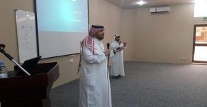 د. القحطاني يقدم ورشة عمل للتعامل مع الأشخاص الصم  في كلية الاتصالات وتقنية المعلومات بالرياض