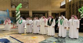 أ.د. النمي يشارك معالي رئيس الجامعة ووكلاءها في احتفالات اليوم الوطني