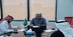 عميد شؤون الطلاب الدكتور فهد القريني يُقر مع المعنيين الآلية المستقبلية للعمل التطوعي