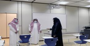 عميد كلية التمريض تتفقد جاهزية الكلية لاستقبال العام الدراسي الجديد